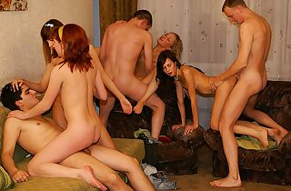 Indeed mind-blowing gangbang party sex scene