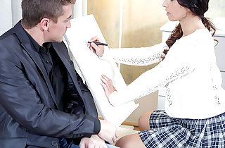 Christy gets her tricky elder teacher..