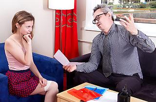 Stunning student pays her teacher a..